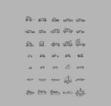 精制线型交通工具图标图片