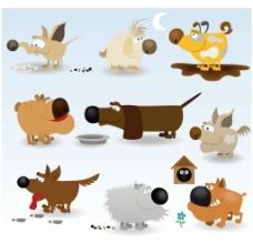 可爱狗狗家族图片