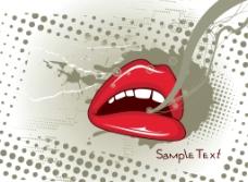 红嘴唇图片