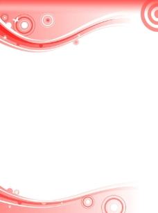 红色淡雅word背景图片图片