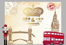 婚礼背景 英伦风格图片
