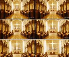 古典婚礼教堂动态视频