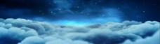 幽暗天空的云动态视频