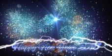 2015新年快乐烟花绽放动态视频