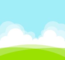 绿色原野风景矢量素材