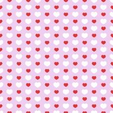 红白相间爱心无缝背景