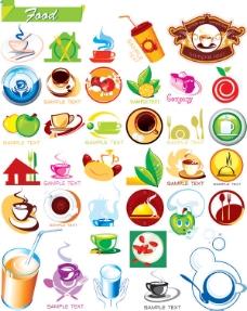 食品饮品相关精美图标矢量素材