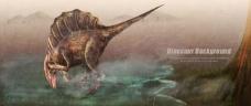 时尚恐龙海报