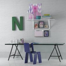 书桌装饰墙3D模型素材