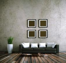 灰色背景墙