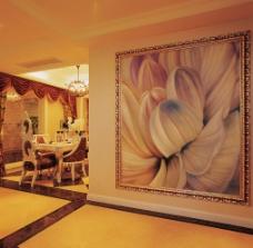 菊花背景墙