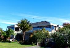 新西兰海滨建筑风景图片