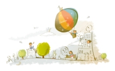 热气球楼房