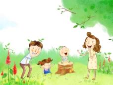 幸福温馨插画