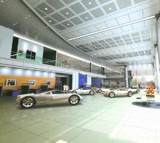 汽车专卖店3d模型