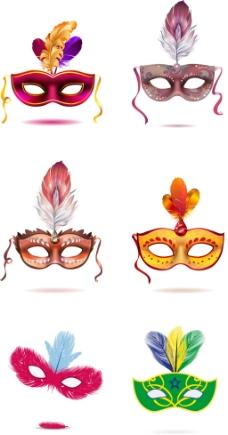 六款面具狂欢节设计