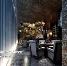 餐厅室内场景3D模型素材