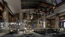 酒店室内设计3D模型素材
