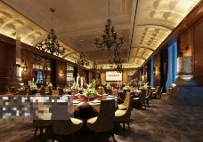 酒店茶馆空间设计3D模型素材