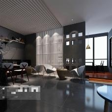 茶馆空间设计3D模型素材