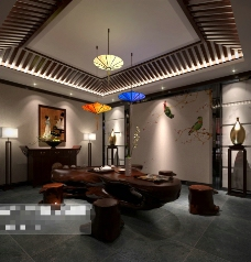 茶餐厅3D模型素材