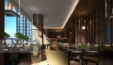 酒店茶馆布局3D模型素材