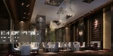酒店茶馆场景3D模型素材