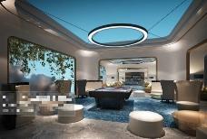 酒店室内空间3D模型素材