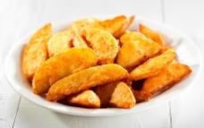 炸土豆块图片