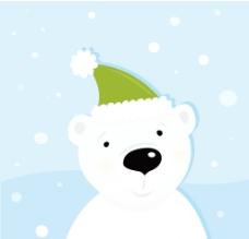 戴帽子的小白熊图片