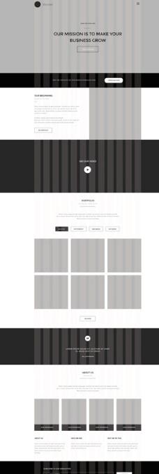 Wooster 黑色简约风网站图片