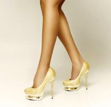 时尚美腿高跟鞋图片