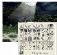灯光光线笔刷图片