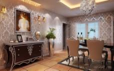 家居餐厅模型