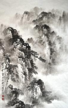 潮州西湖公园图片,速写 风景 钢笔水彩 小桥 凉亭-图