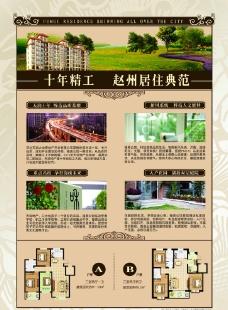 欧式房地产dm宣传单页反面图片