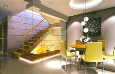 餐厅3d效果图