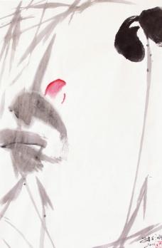 子木 水墨画《散曲·听荷》图片