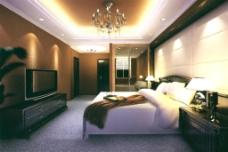 酒店卧室模型