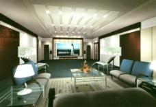 现代客厅模型设计
