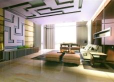 客厅模型效果图