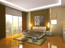 卧室双人床模型