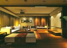 时尚客厅模型