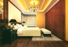 卧室装饰模型