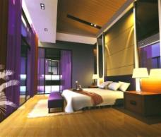 温馨卧室模型