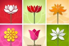 花朵设计  矢量花朵  春天图片