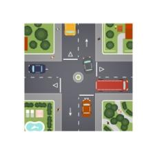 交通卡通道路图
