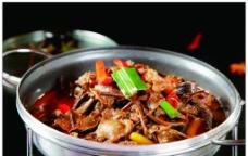 茶树菇煲罗干肉图片