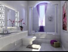 欧式卫生间模型