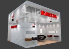 展台3D模型设计 建筑卫浴展图片